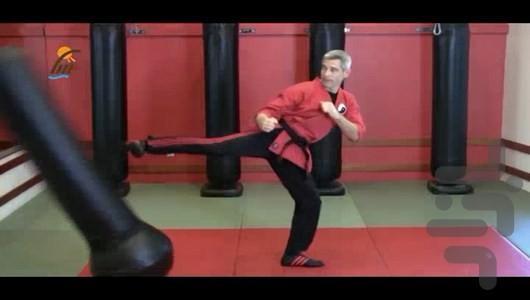 آموزش ضربات پا در ورزش های رزمی - عکس برنامه موبایلی اندروید