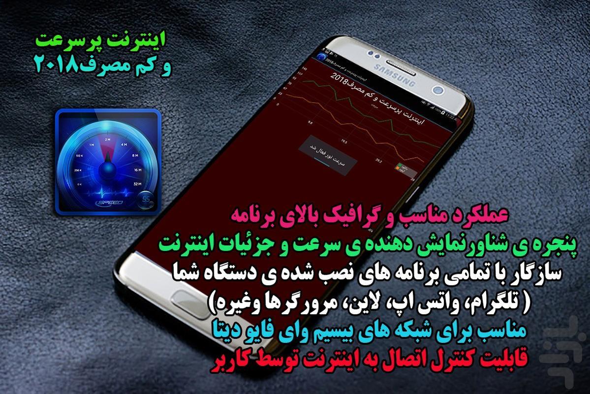 اینترنت پرسرعت و کم مصرف1397 - عکس برنامه موبایلی اندروید