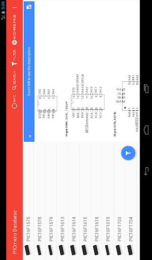 PICmicro Database - Image screenshot of android app