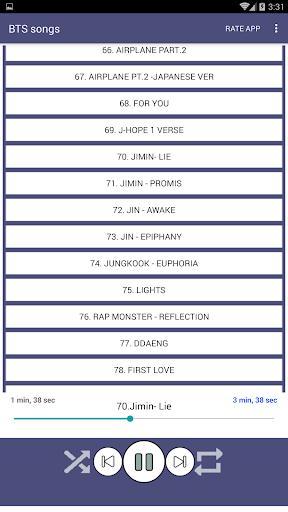 100 BTS Songs Offline (Kpop Songs) - عکس برنامه موبایلی اندروید