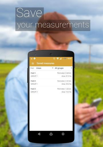 GPS Fields Area Measure – محاسبهی مساحت زمین با جی پی اس - عکس برنامه موبایلی اندروید