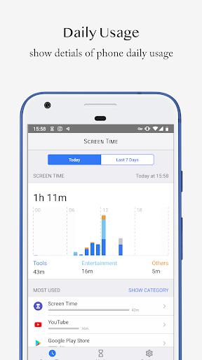 Screen Time - Restrain yourself & parent control - عکس برنامه موبایلی اندروید