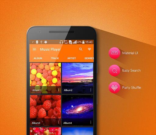 MP3 Player - عکس برنامه موبایلی اندروید