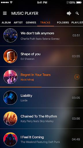 Music Player App - عکس برنامه موبایلی اندروید