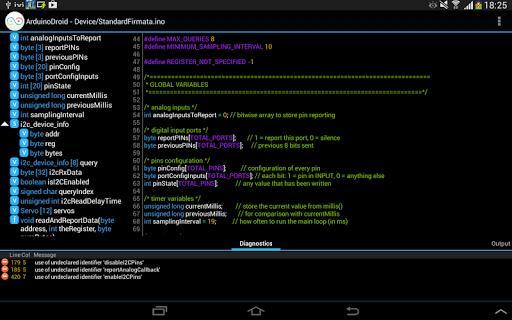 ArduinoDroid - Arduino/ESP8266/ESP32 IDE - عکس برنامه موبایلی اندروید