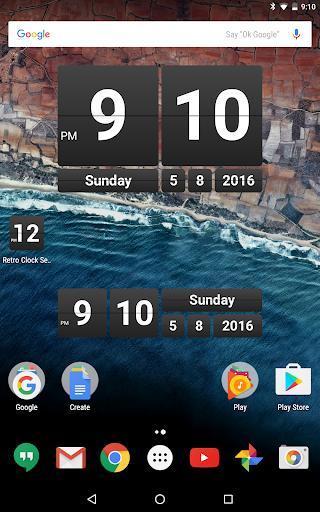 Retro Clock Widget - عکس برنامه موبایلی اندروید