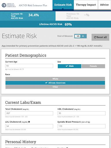 ASCVD Risk Estimator Plus - عکس برنامه موبایلی اندروید