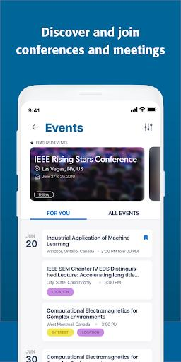 IEEE - عکس برنامه موبایلی اندروید