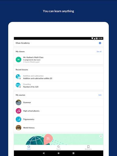 Khan Academy - آکادمی خان - عکس برنامه موبایلی اندروید