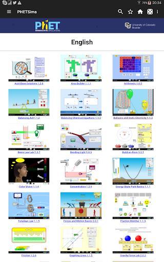 Chemistry & Physics simulations - عکس برنامه موبایلی اندروید