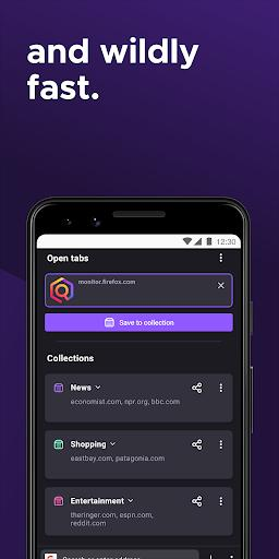 Firefox for Android Beta - عکس برنامه موبایلی اندروید