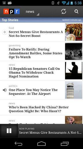 NPR News - عکس برنامه موبایلی اندروید