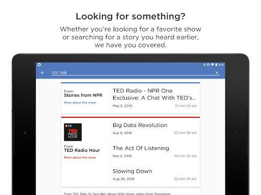 NPR One - عکس برنامه موبایلی اندروید