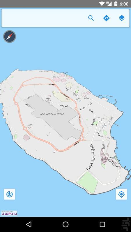 نقشهی گردشگری کیش - عکس برنامه موبایلی اندروید