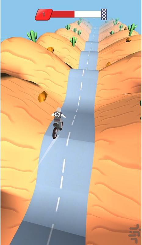 موتورسواری در تپه - عکس بازی موبایلی اندروید
