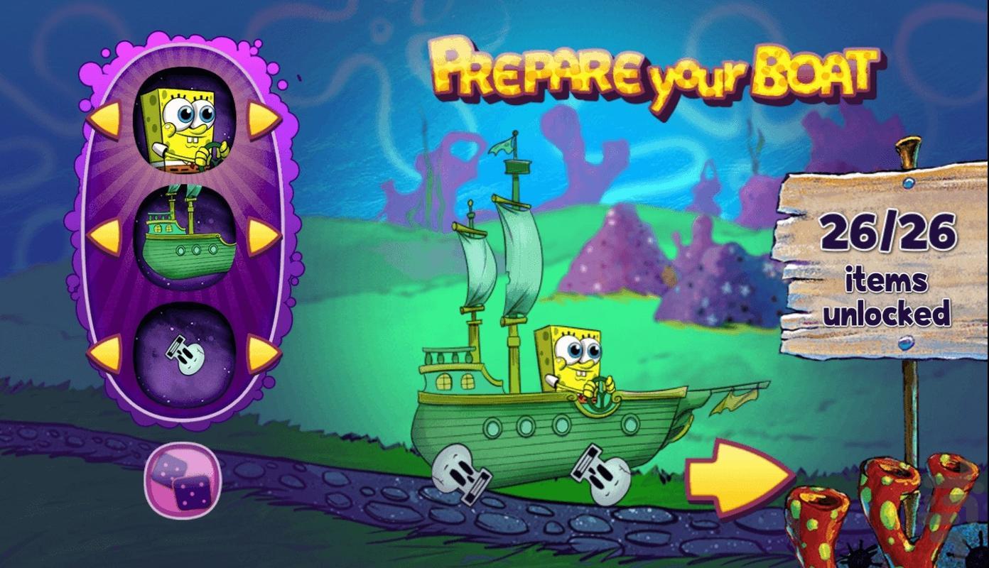 قایق باب اسفنجی - عکس بازی موبایلی اندروید