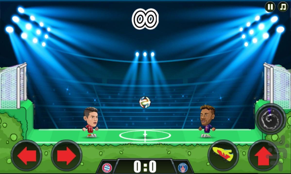 فوتبال کله ای - عکس بازی موبایلی اندروید