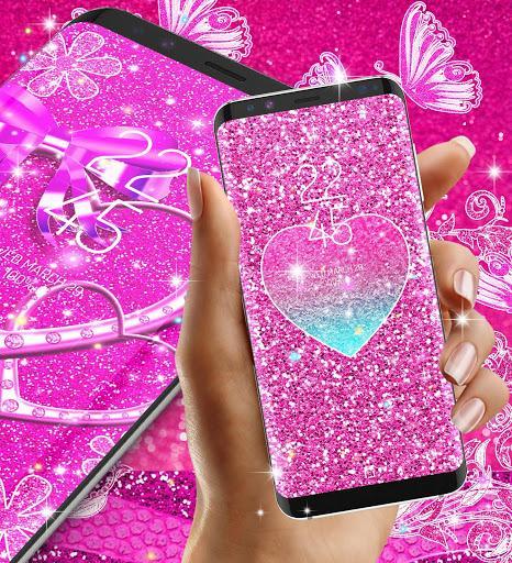 Pink glitter live wallpaper - عکس برنامه موبایلی اندروید
