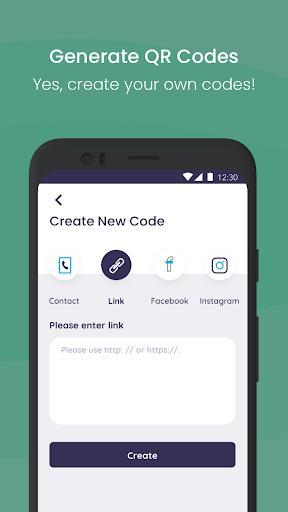 QR code scanner & Barcode Scanner, QR Code reader - عکس برنامه موبایلی اندروید