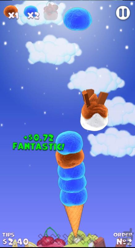 بازی بستنی قیفی - عکس بازی موبایلی اندروید