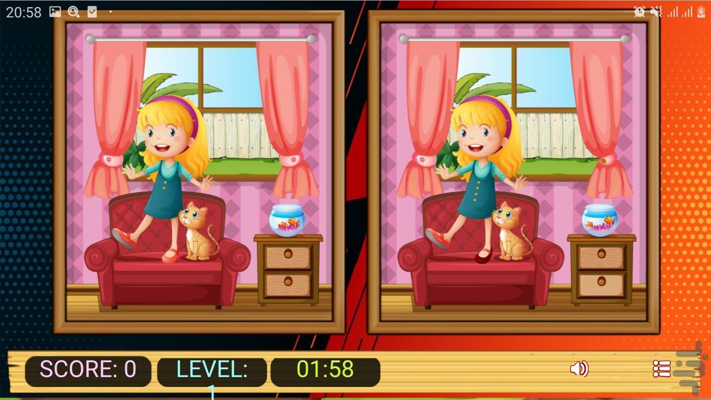 تفاوت تصویر کودکانه - عکس بازی موبایلی اندروید