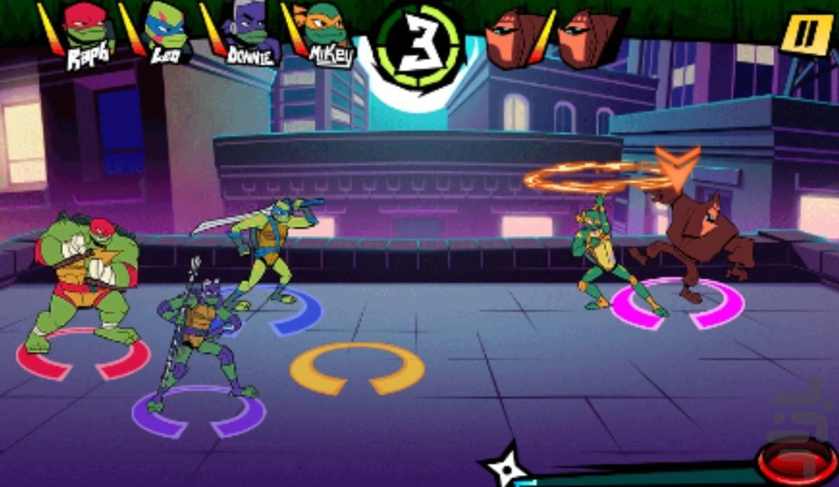 شورش لاکپشتهای نینجا - عکس بازی موبایلی اندروید