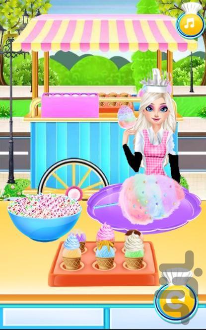 بستنی فروشی السا - عکس بازی موبایلی اندروید