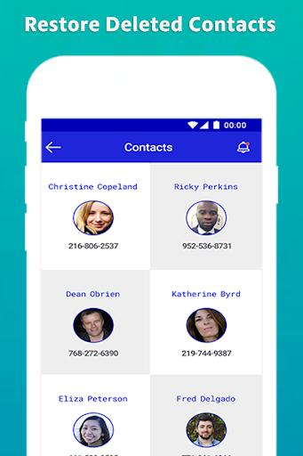 Restore Deleted Contacts - عکس برنامه موبایلی اندروید