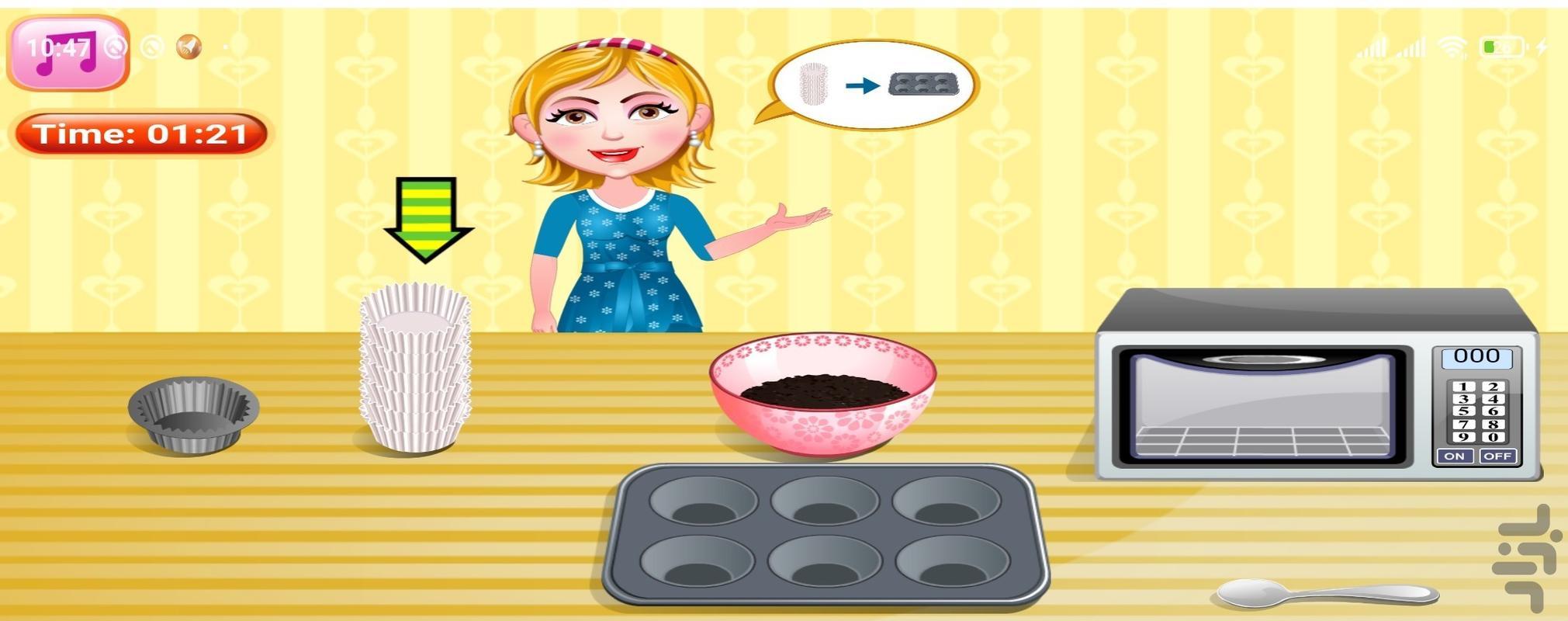 آشپزی کاپ کیک پنیری - عکس بازی موبایلی اندروید