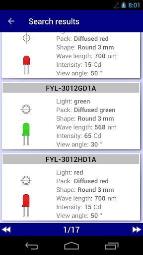 Electronics Database: params of electronics parts - عکس برنامه موبایلی اندروید