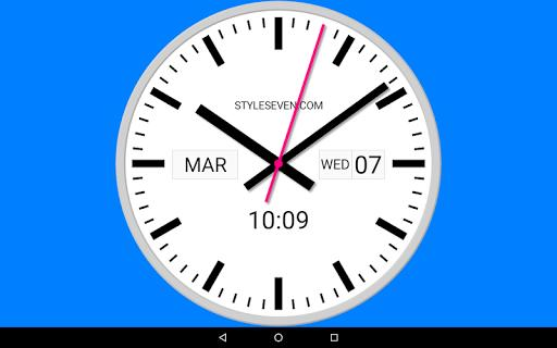 Swiss Analog Clock-7 - عکس برنامه موبایلی اندروید
