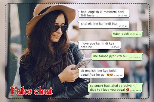 Fake Chat With Girlfriend : Fake Conversations - عکس برنامه موبایلی اندروید