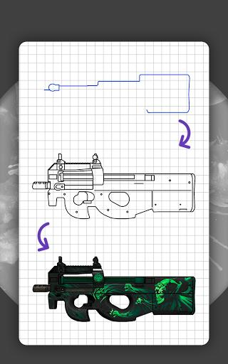How to draw weapons. Step by step drawing lessons - عکس برنامه موبایلی اندروید