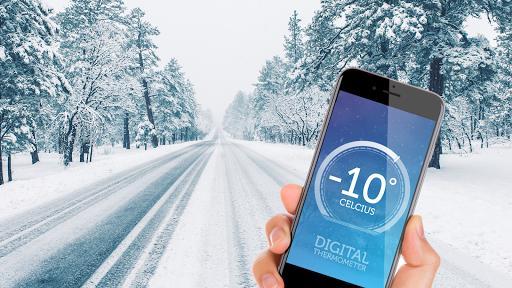 Digital thermometer - room temperature - عکس برنامه موبایلی اندروید