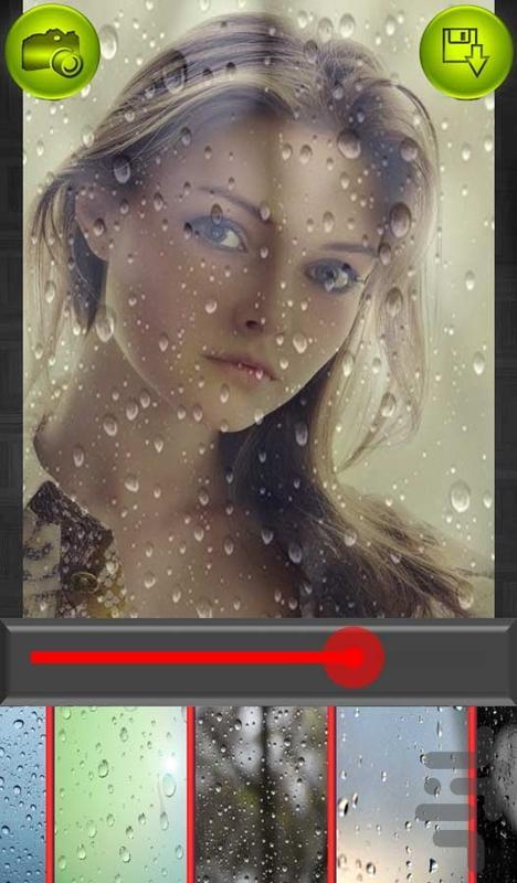 ويرايش عکس (افکت بارانی) - Image screenshot of android app