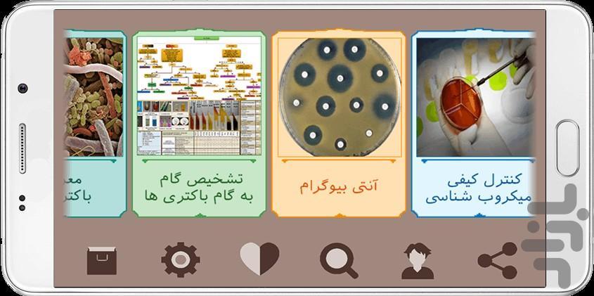 باکتری شناسی پزشکی - عکس برنامه موبایلی اندروید