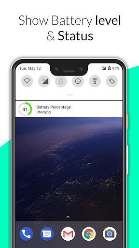 Battery Percentage - عکس برنامه موبایلی اندروید